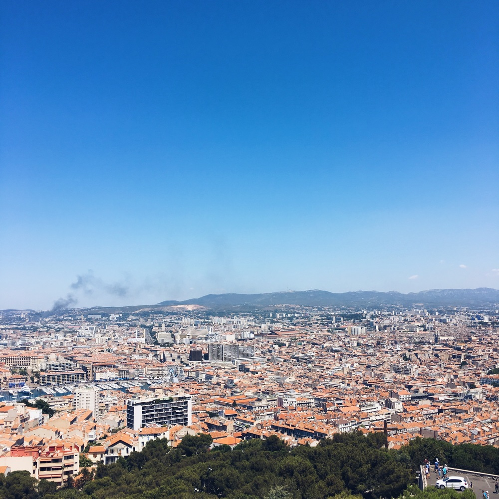 Views from Notre Dame de la Garde of Marseille