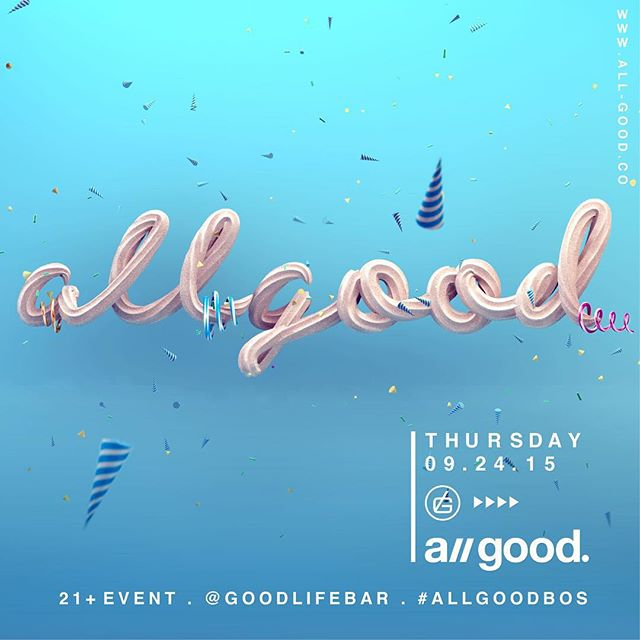 Its a// good tonight. Celebrating the 2 year anniversary tonight. Ill be providing vibes upstairs. Come as you are. #allgoodbos