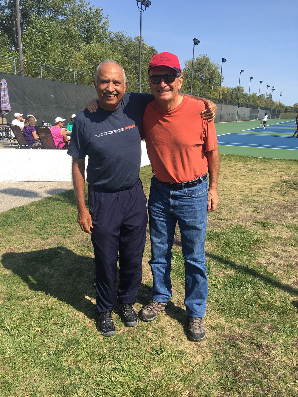 Archie's Chawla and Tom Hiebert - Men's 65+ doubles winners