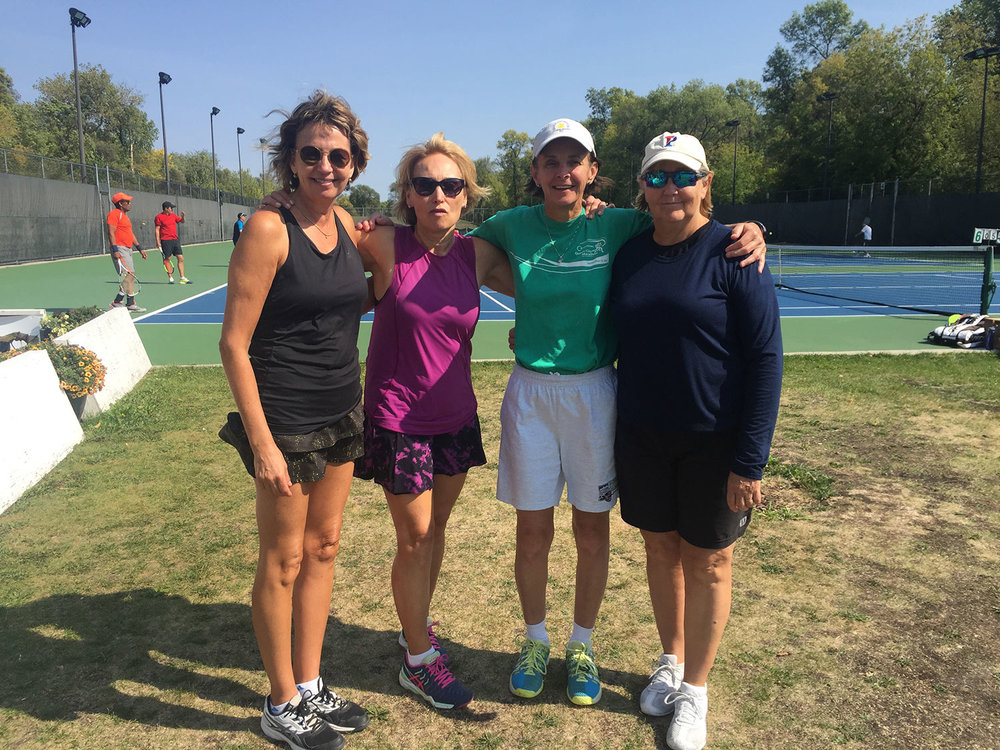 Deb Anderson, Colleen Robertson, Danielle Parent and Pat Chawla  - Women's Doubles Final