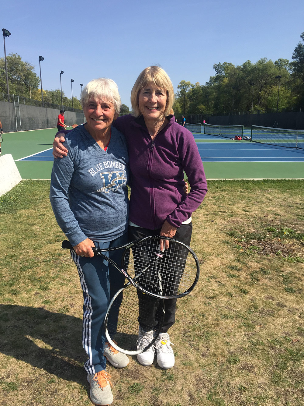 Marilyn Redekop and Margaret Boumford - Women's 65+ doubles winners