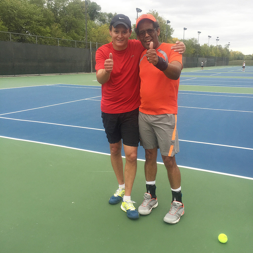Mark Vandal, Tony Weekes - Men's doubles winners