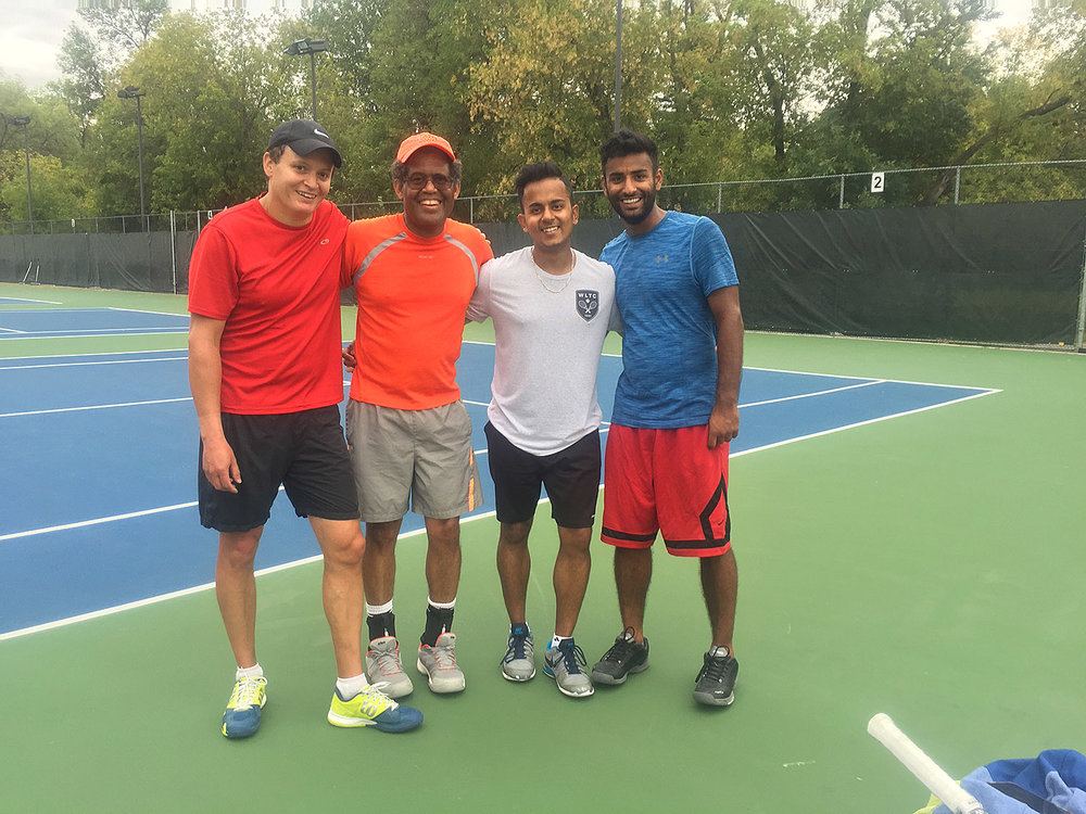 Mark Vandal, Tony Weekes, Mannan Thakur, Karan Grewal - Men's doubles final