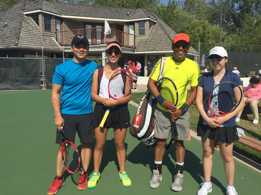 Souk Xoum, Katherine Lee, Tony Weekes and Elinor Shpunt - Mixed Doubles Final