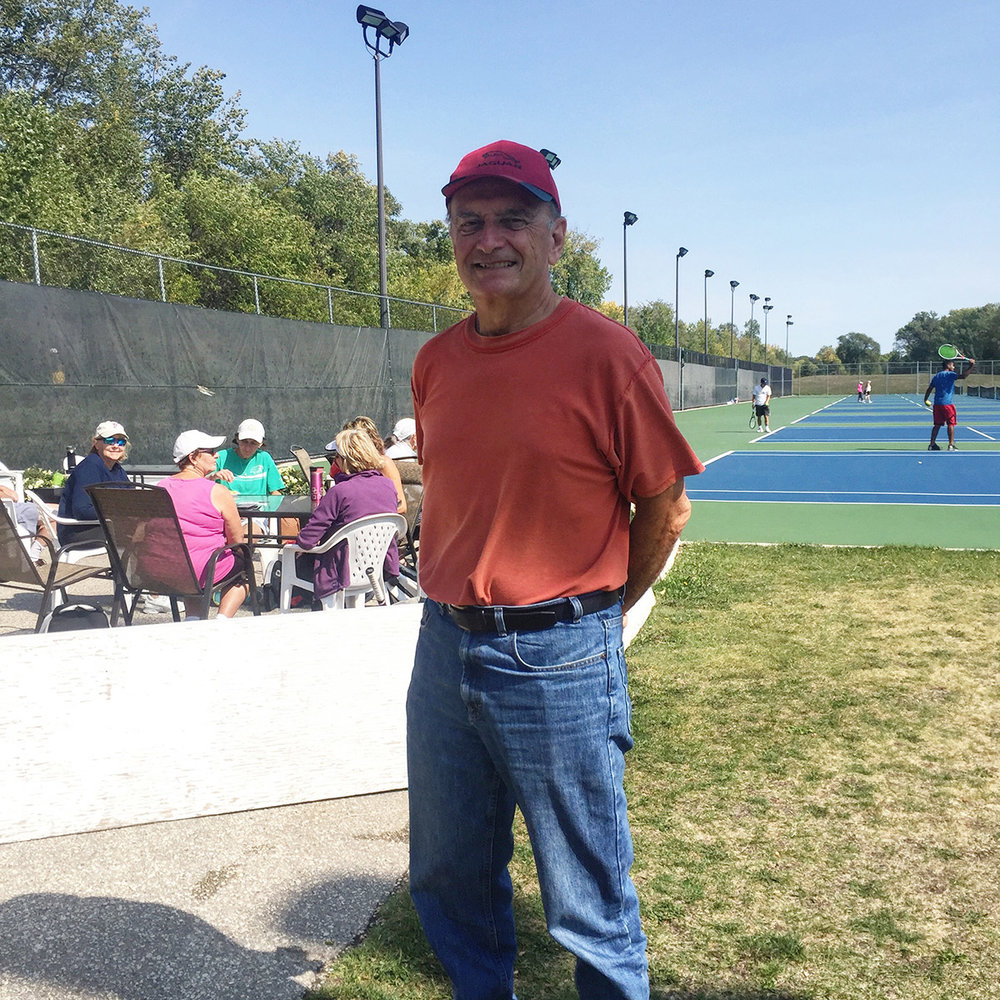 Tom Hiebert - Men's 65+ singles winner