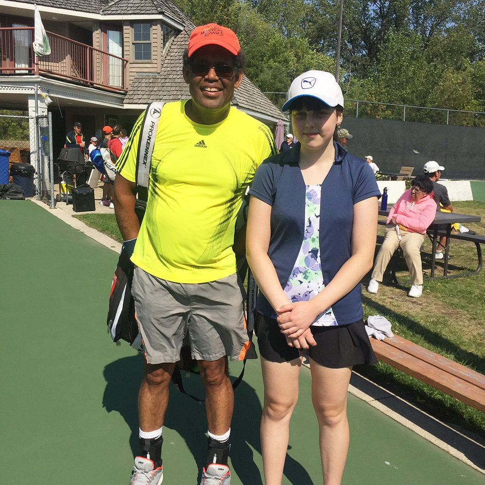 Tony Weekes and Elinor Shpunt - Mixed Doubles Winners