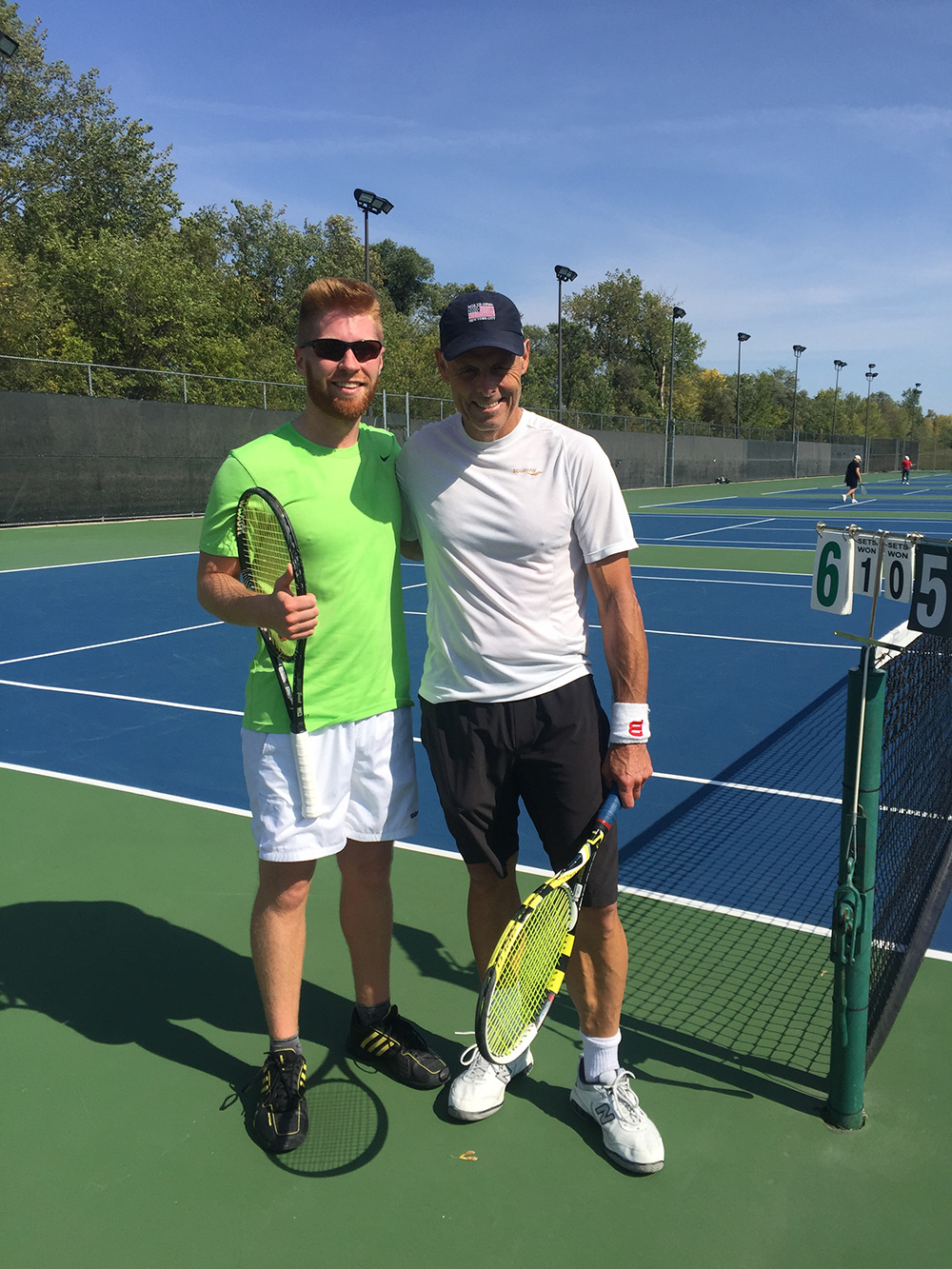 Trevor Skidmore and Darrell Bushuk - Men's Singles Finalists'
