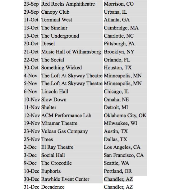 Vanic tour dates 2016