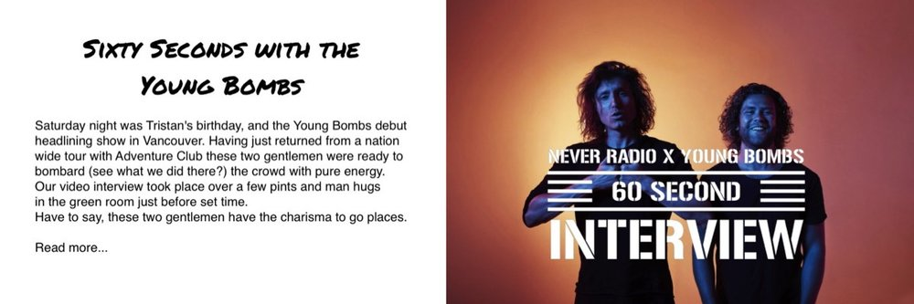 Young Bombs Interview NeverRadio