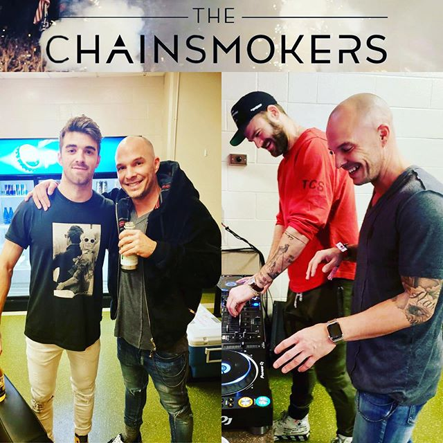 Catching up with our ol' friends @thechainsmokers before the ball drops on 2018!