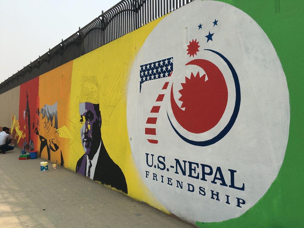 US-Nepal street art