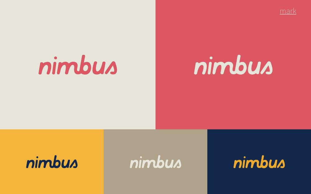 Final Nimbus Mark with colors.Final Nimbus custom script mark and colors