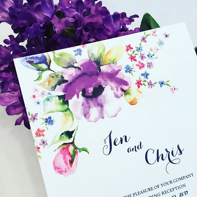 Don't you just love this amethyst color which happens to be the Pantone color of 2018? . . . #designerinvitations #luxuryinvitations #wedding2018 #weddinginvitations #weddingwire #columbiamd #ellicottcity #ellicottcitymd #calligraphy #youreinvitedbyjan #ellicottcitymaryland #custominvitations #marylandweddings #youreinvitedbyjaninvitations #savethedate #theknot #envelopeaddressing #dmveventplanner #letterpress