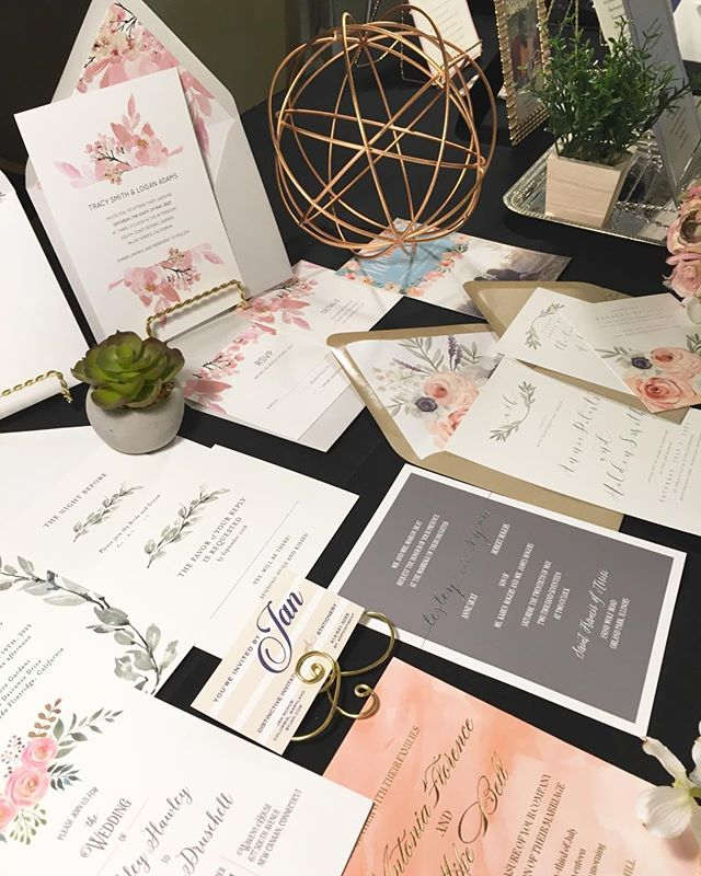 We had so much fun meeting all of the engaged couples @historicoaklandevents in Maryland today. It's always exciting talking about beautiful invitations and stationery! Don't you just love beautiful paper and print? . . .  #weddinginvitations  #luxuryinvitations #customweddinginvites #envelopeaddressing #columbiamd #ellicottcitymd #baltimorewedding #dmvwedding #engaged2018 #letterpressinvitations #theknot #washingtonbride #2018bestofweddings #youreinvitedbyjaninvitations #smittenonpaper #kramerdrive #luxuryweddinginvitations
