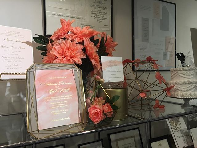 We are so excited to design wedding invitations incorporating coral which is the 2019 Pantone color of the year! The options are endless but we will help you have fun with your decisions and not feel stressed. The papers are gorgeous, the textures of the embellishments and ribbons are so are impressive and the designs are amazing.  #weddinginvitations #customweddinginvitations #luxuryinvitations #guestaddressing #dmvwedding #2019bride #columbiamd #marylandbride #baltimorebride #helpmewithmywedding #weddinginvitationwording #motherofthebride #invitationstyle #youreinvitedbyjaninvitations #letterpressinvitations #theknotweddings #theknot #weddingwire #engagedin2019