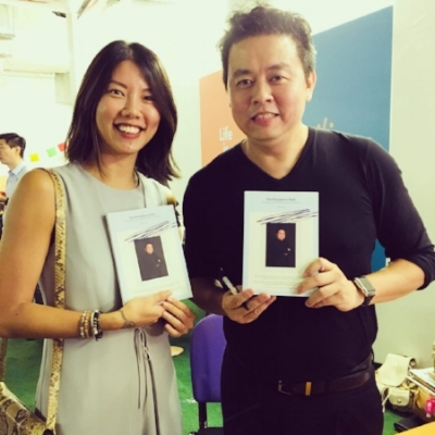 At the book launch of  The Disruptor's Path  with author Henry Ong.
