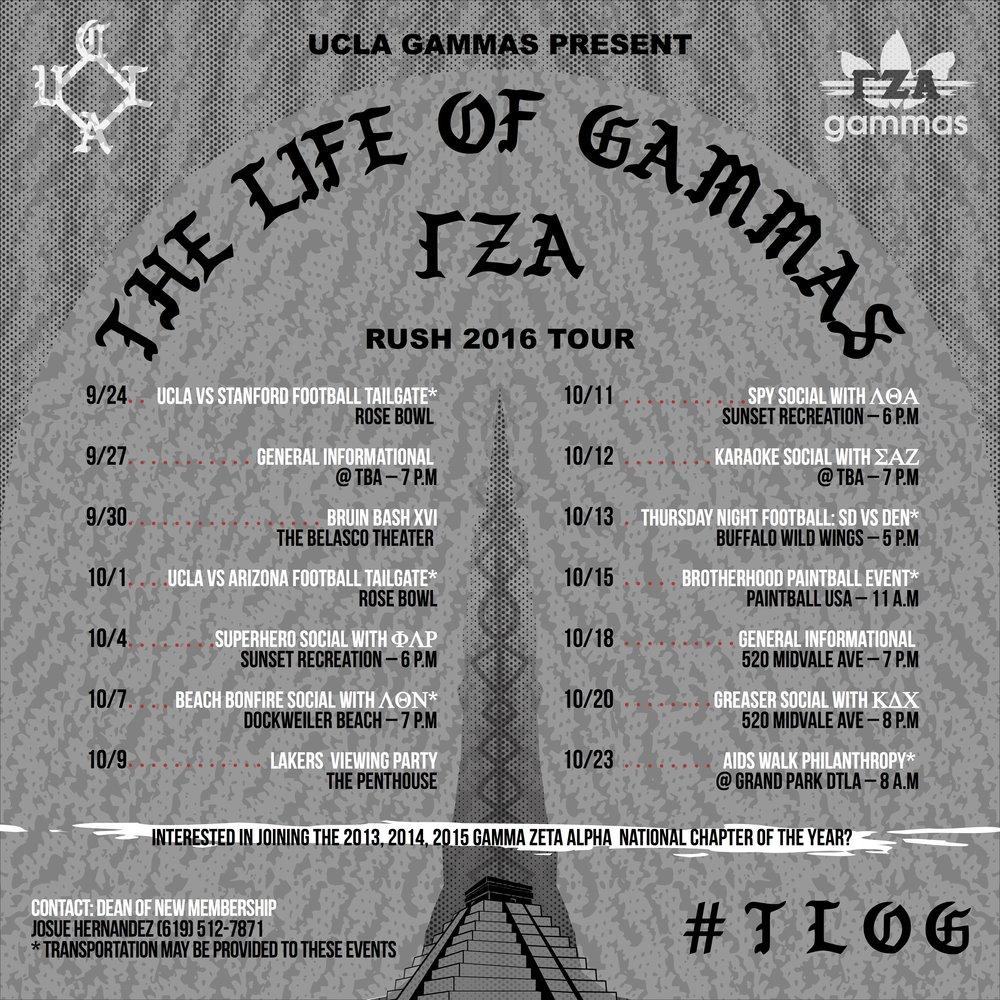 RUSH GAMMAS 2016: 9/24 – 10/23