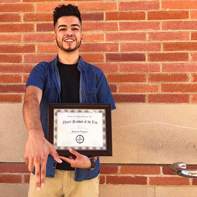 "The road to Nationals was a long one, but defintely a memorable experience.  This week on #GammaTuesday we'd like to give special recognition to Eta Chapter's President for winning Gamma Zeta Alpha Fraternity, Inc. Chapter President of the Year for 2016! ---------------------------------------------------- Edgardo ""Eddie"" Vazquez, HΣX (3rd year Economics Major and Spanish Minor from East Los Angeles, CA) works as a Customer Relations Representative at Parker Career Management Center in the UCLA Anderson School of Management. He has interned with Teach For America and Engage:BDR throughout his undergraduate career and participates in the Latino Business Student Association through his role as the Director of Corporate Relations. As a Riordans' C2C Alumni he has fostered a strong network with professionals throughout various universities and aims to have a career within Marketing/Brand Management after he graduates from UCLA. ---------------------------------------------------- #EliteEta #GoGammas #TúSabes #TLOG"
