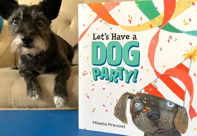 🎉🐶🎉It's here! The #bookbirthday for LET'S HAVE A DOG PARTY! 🎉🐶🎉 🎉 It's here because of my amazing agent, Rebecca Sherman, & the amazing team at Viking/Penguin - my editor Joanna Cardenas, my art director Denise Cronin & the amazing book design by Mariam Quraishi. And of course, my lil dog - Pepper. 🐶 #dogsofinstagram  #letshaveadogparty  #newin19 #picturebookillustration  #picturebook #dogbook #kidlitart