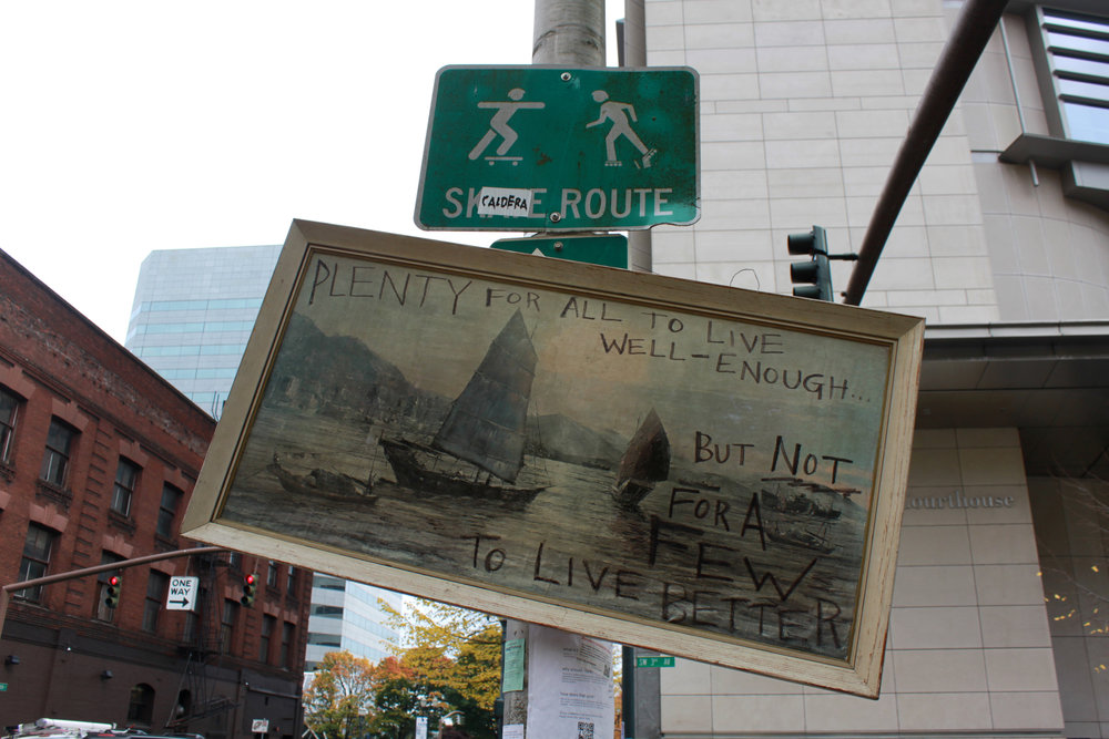 Occupy graffiti, Portland 2011. Photo: Portland Street Art Alliance