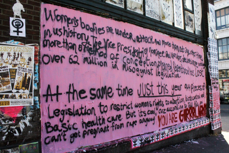 Women's Rights graffiti by Grrrl Army, Seattle 2012. Photo: Portland Street Art Alliance