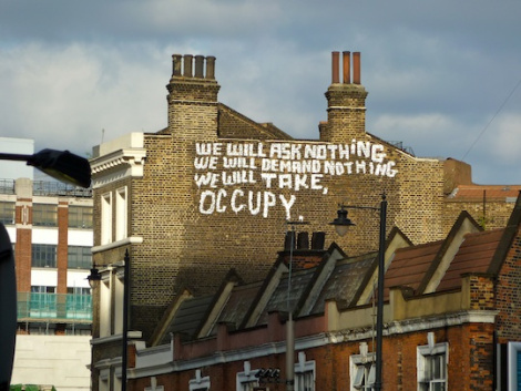 Occupy graffiti, London 2011. Photo: monevator.com