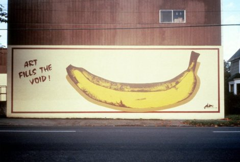 Art Fills the Void by Gorilla Wallflare, Portland. 1982. Photo:   Gorilla Wallflare