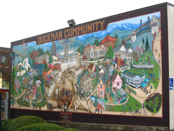 Buckman Community Mural by Joe Cotter