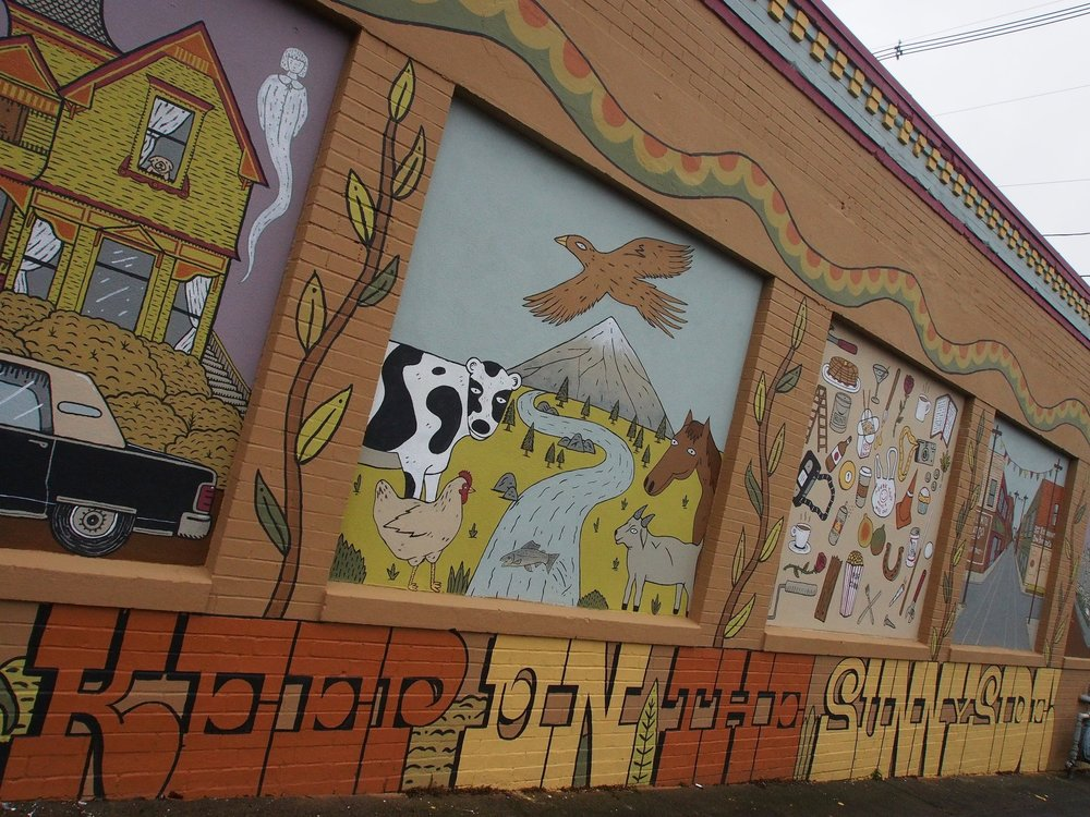 Explore the mural panels and some of the history of the Sunnyside neighborhood and Belmont Business District.  -