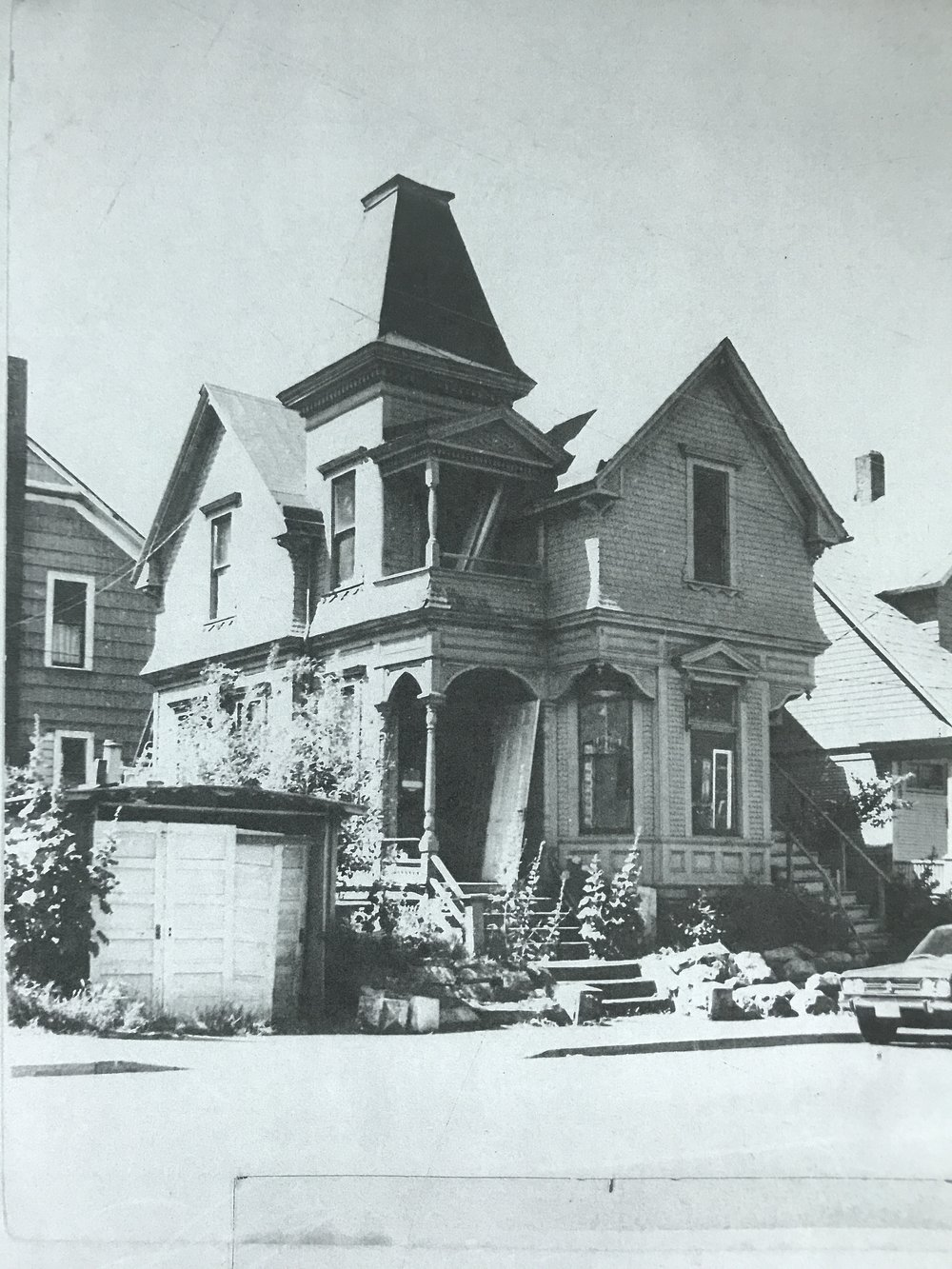 J.C. Havely House under restoration by Ben & Jerry in the 1970s.
