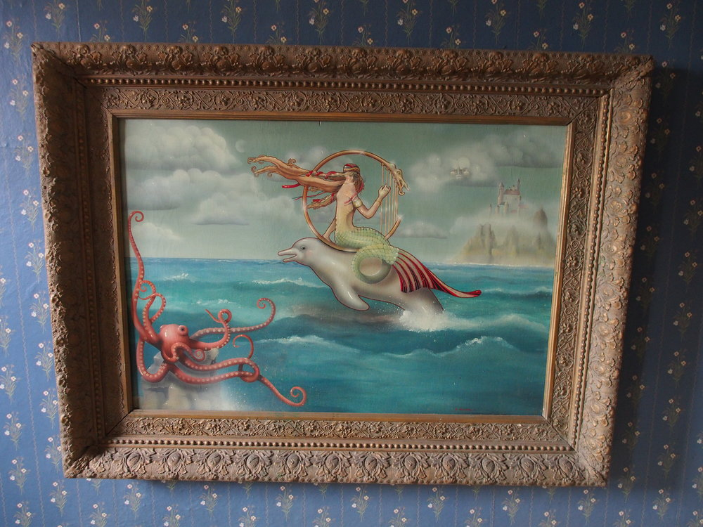 David Delamare's first mermaid painting, that hung in the front room of Buttertoes