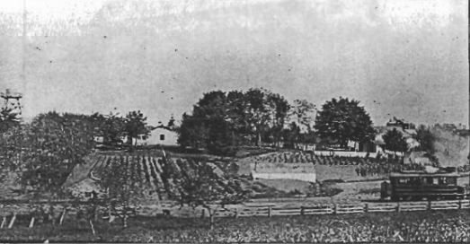 Hans Hanson House & Farm on 60 acres between SE 27th, SE 30th, Salmon & Main in 1890.  Photo: Oregon Historical Society.