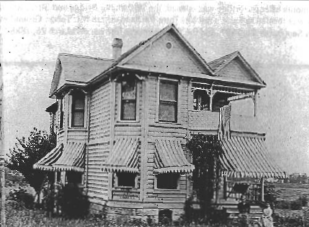 Halder House at 33rd & Morrison in June 1898.  Photo: Oregon Historical Society.