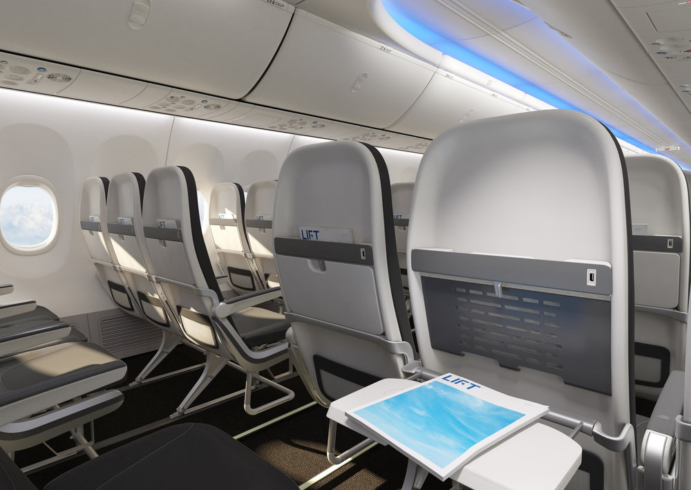 Boeing 737 Tourist Class Seating — LIFT by EnCore