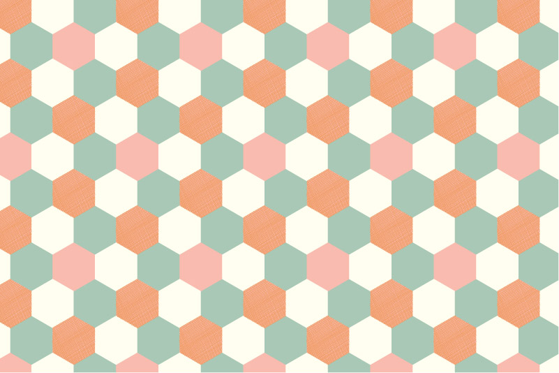 Hexagons-orange