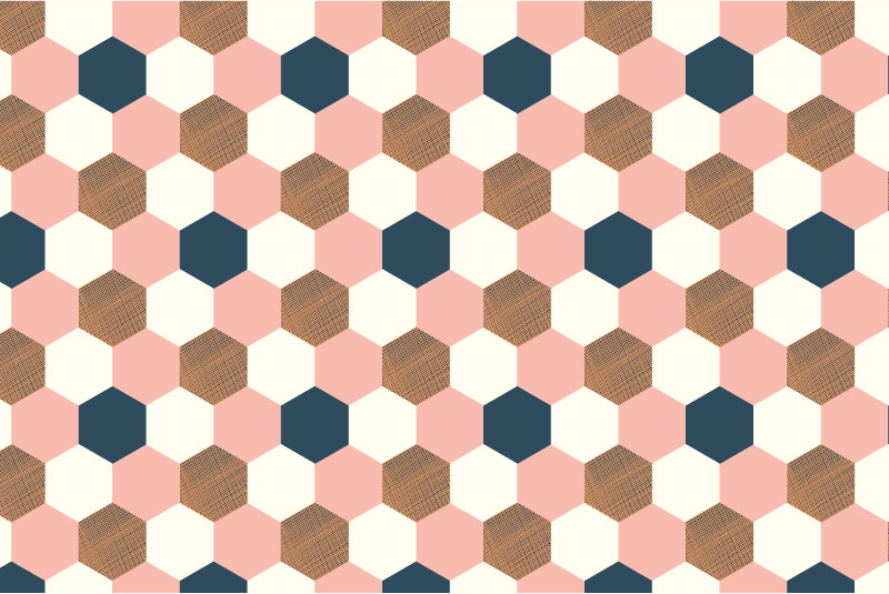 Hexagons-pink