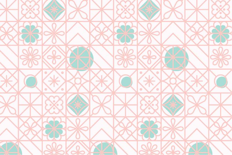 Retro Tiles-white