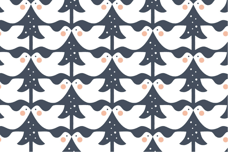 Snowy Dove-navy