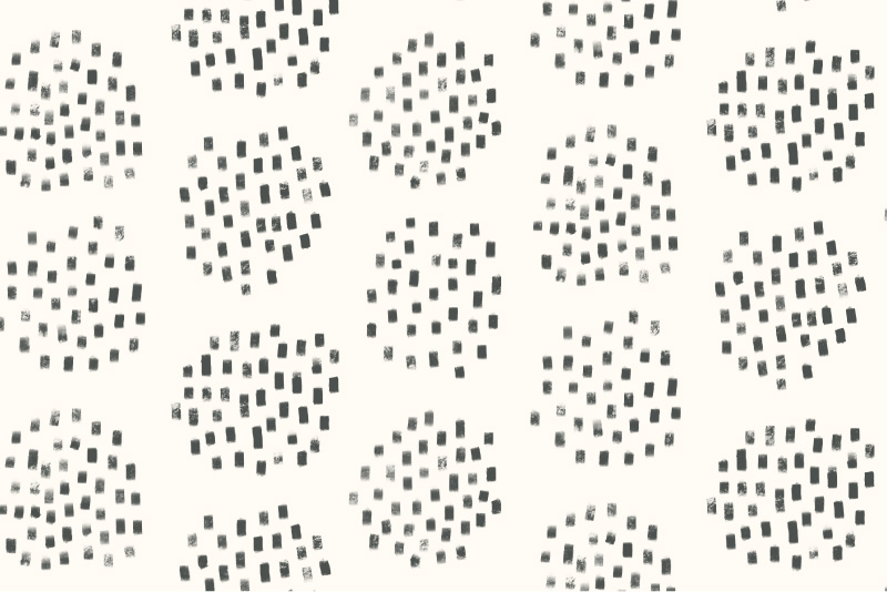 Dotted Spheres-cream