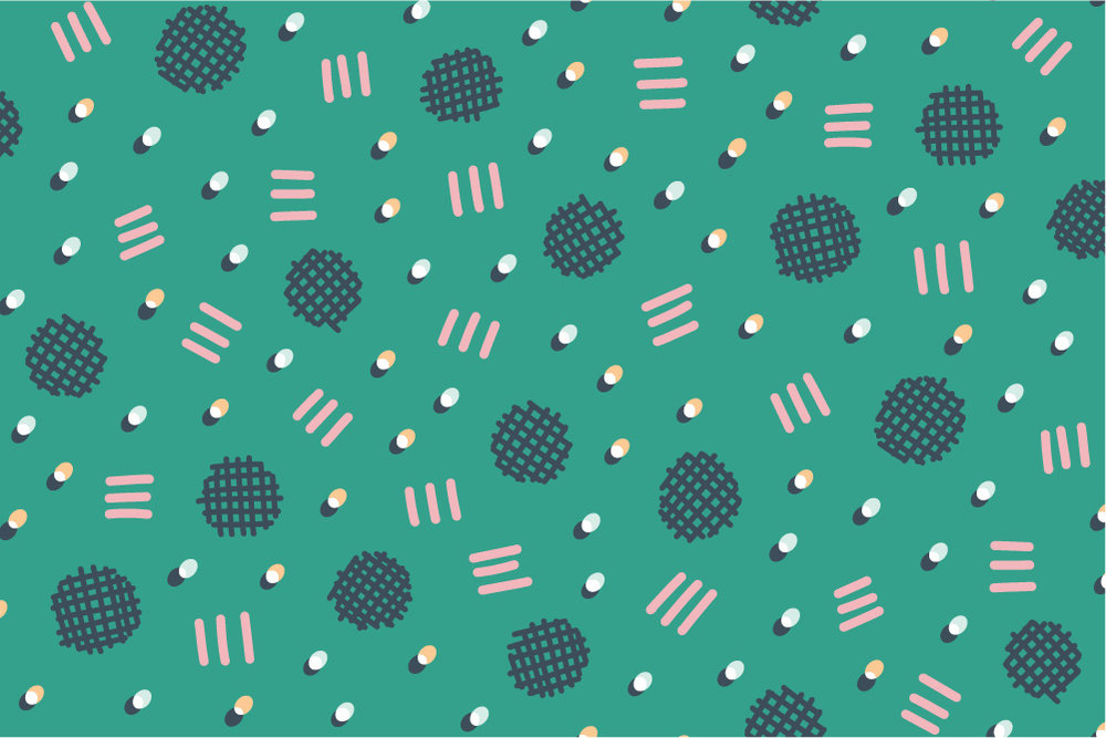 Waffle Confetti-green