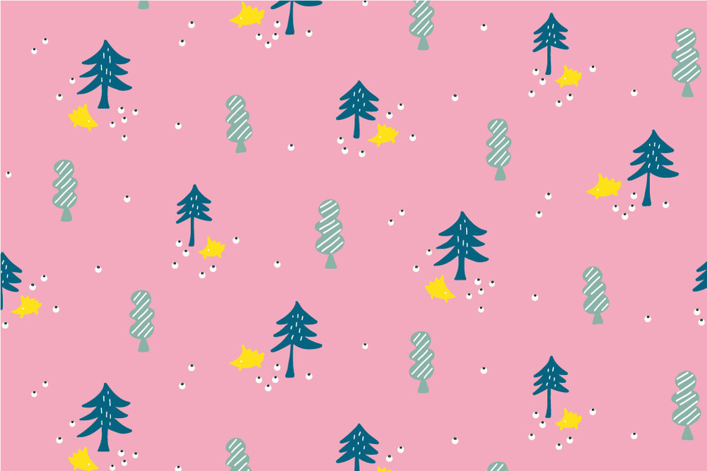 Woodland Hedgehog-pink