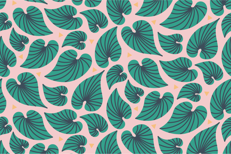 Bahama Leaves - pink