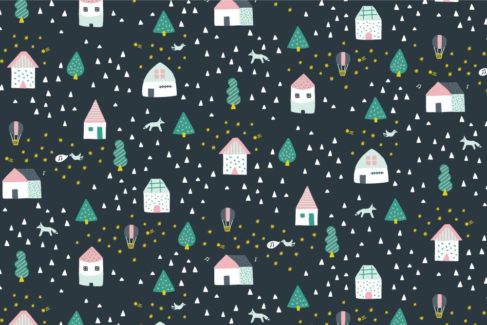 Winter Wonderland - navy
