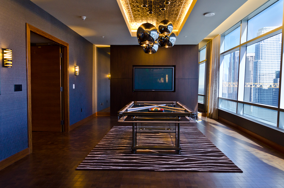 GLASS POOL TABLE AT RITZ-CARLTON RESIDENCES