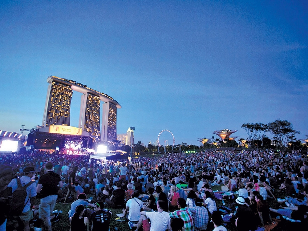 A Moment Captured from Laneway Music Festival 2013 in Singapore