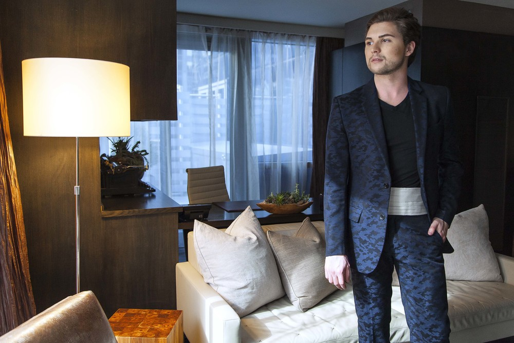Ian in JUMA suit at  Hotel 48Lex New York City. Photo: Briana Louise Sposato