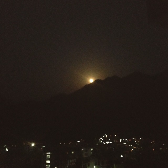 #FullMoon in #Sagittarius rise over #Rishikesh #India. 🌝🗻
