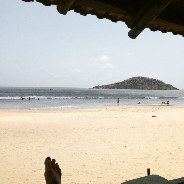 So I'm still in India… Sitting outside my room. Here until further notice 🌴🌞😎✌🏾️👊🏽