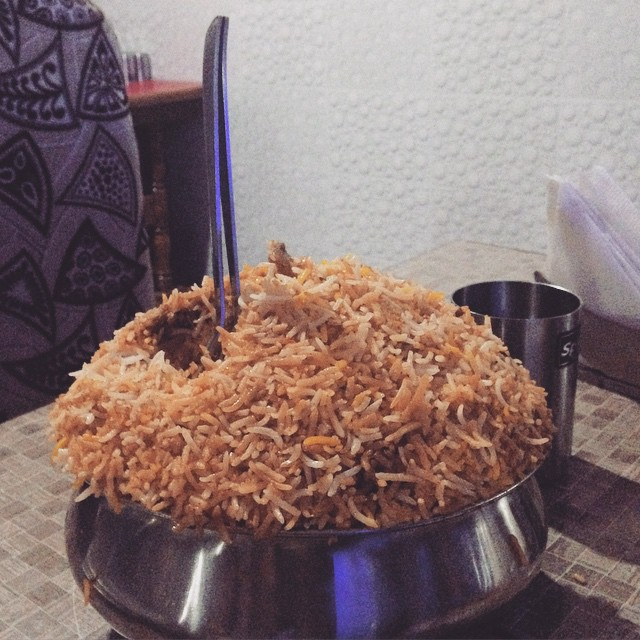 I give you: #Biriyani #Hyderabad style. 🐓🍛 #foodcoma #foodporn #Incredibleindia @elzakochu @meekan