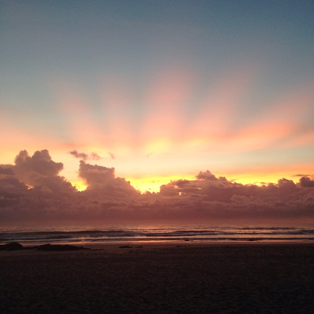 #Sunrise this morning off #Australia's mid East coast 🌅👌#nofilter